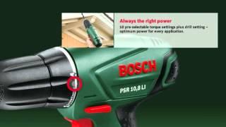 The Bosch Cordless Drill/Driver PSR 10,8 LI