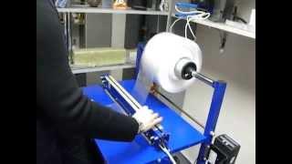 """видео: Запайшик напольный с рулонодержателем, """"шиной"""" и ножом"""