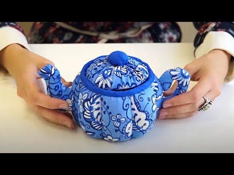 Текстильный чайник // анонс Мастер класса // Чайник из ткани // автор Наталия Есина