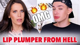 🔥MOST PAINFUL LIP PLUMPER EVER  ft. JAMES CHARLES!!! 🔥