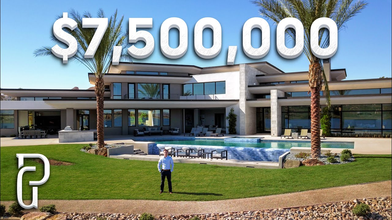 Inside a $7.5 Million Dollar Lake Las Vegas Modern Mansion!
