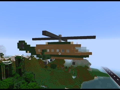 Minecraft private luxury vip helicopter tour tutorial how