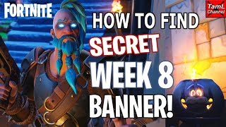 Fortnite: How to Find SECRET Week 8 Banner!