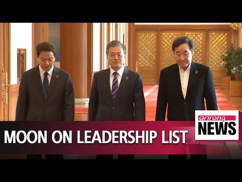 S. Korean President Moon Jae-in earns fouth on world leadership list by Fortune