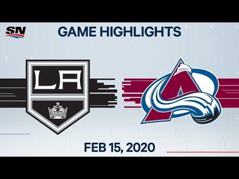 NHL Highlights | Kings vs Avalanche – Feb. 15, 2020