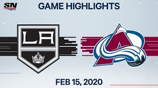 NHL Highlights | Kings vs Avalanche - Feb. 15, 2020