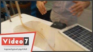 """بالفيديو.. """" المعدية الذكية"""" أول اختراع لسفينة تعمل بالطاقة الشمسية"""