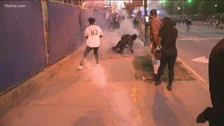 Tear gas used to break up crowd in Downtown Atlanta