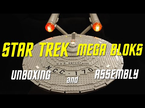 Unboxing & Assembly - Star Trek USS Enterprise by Mega Bloks