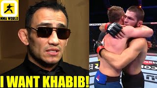 This is how Tony Ferguson reacted LIVE as Khabib chocked out Justin Gaethje at UFC 254,Jan KO's Jon
