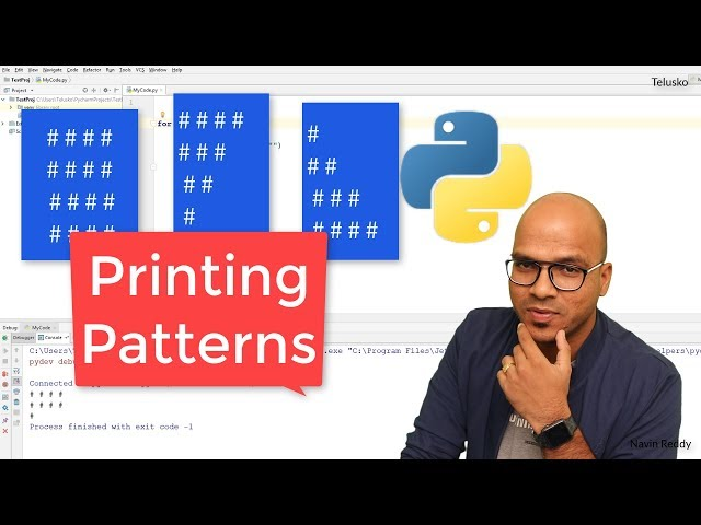 #23 Python Tutorial for Beginners | Printing Patterns in Python