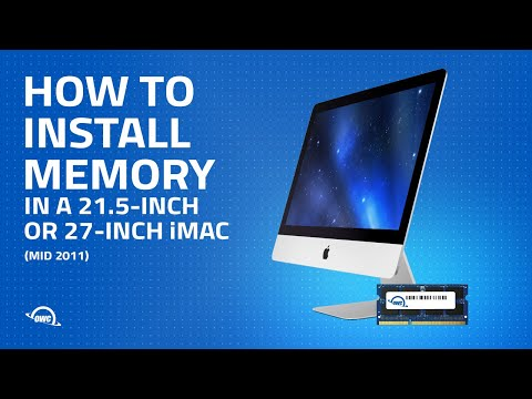 21.5-inch or 27-inch iMac (Mid 2011) Memory Installation Video
