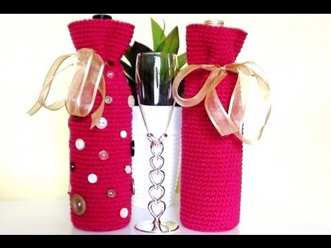 Crochet Wine Bottle Cover Crochet Wine Bottle Bag Youtube