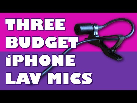 Good Sound For Video With these three Budget iPhone Lav Mics