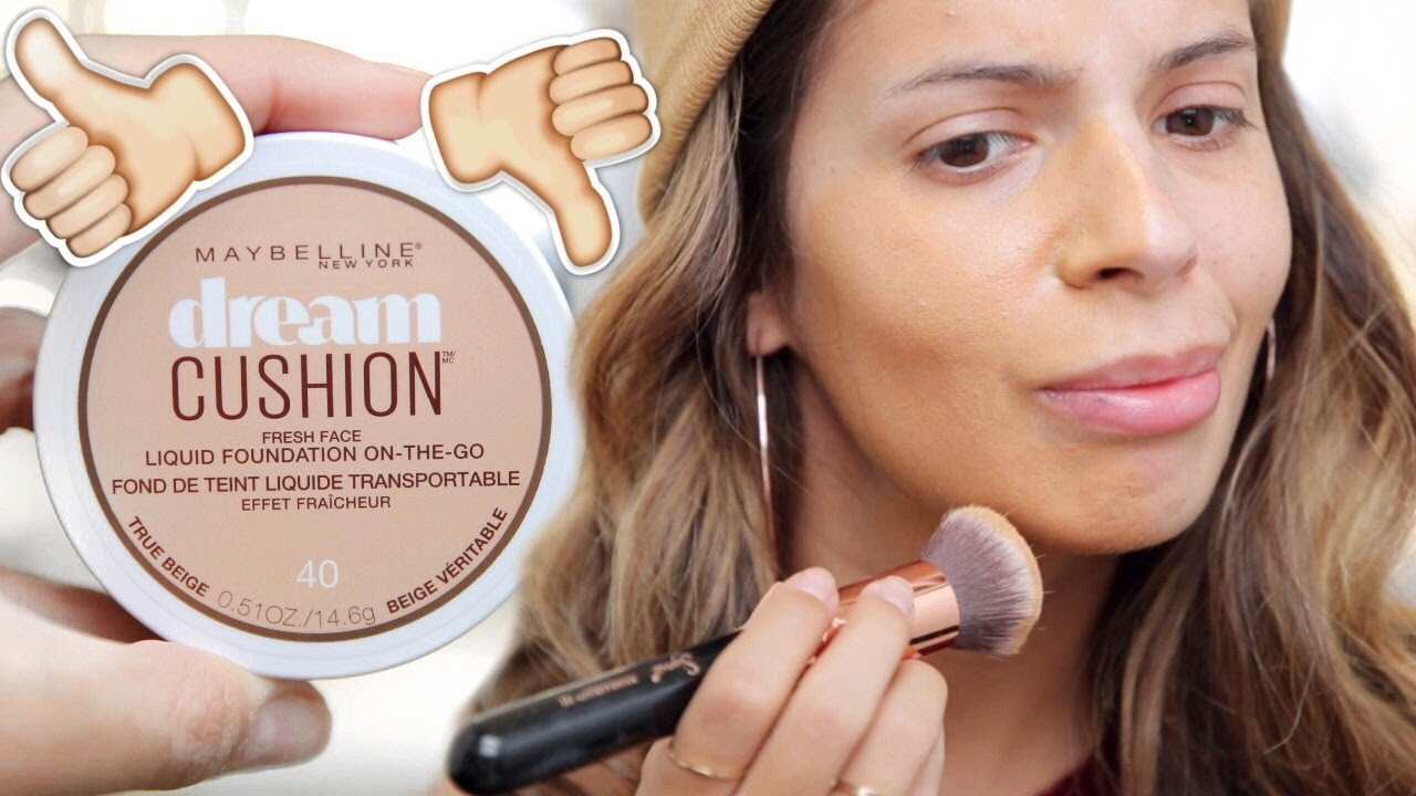 NEW Maybelline Dream Cushion Foundation FULL REVIEW - YouTube