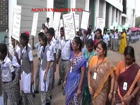 MADURAI .. STUDENTS OF MARUTHU MATRICULATION SCHOOL TAKE OUT A AWRENESS RALLY