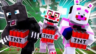 TNT Games With Mangle and Twisted Wolf ?!   Minecraft FNAF Roleplay