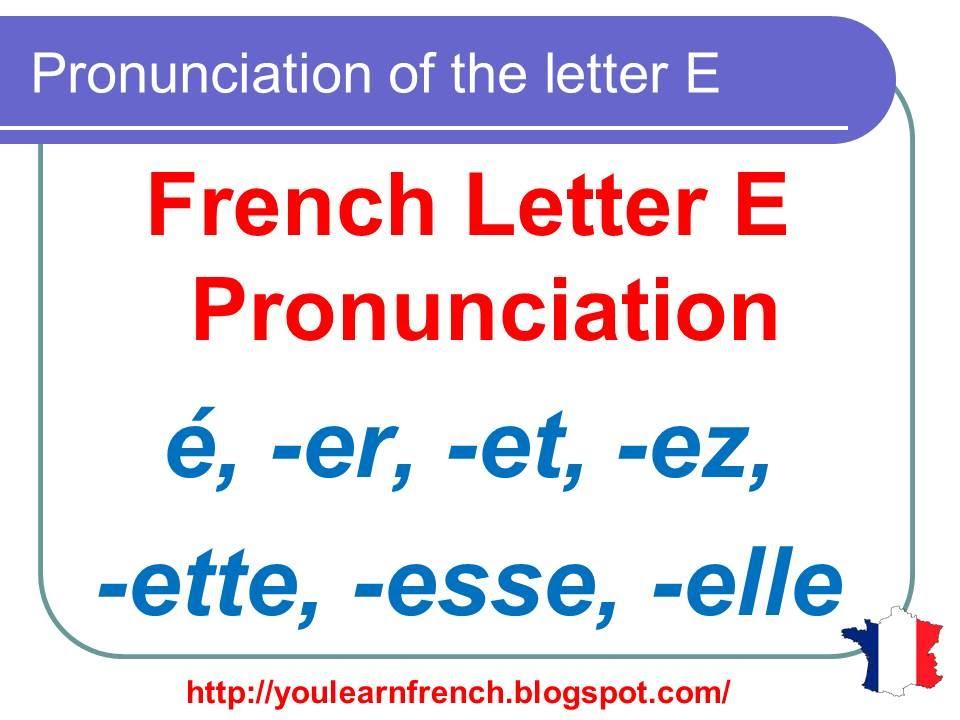 French lesson 125 pronunciation of er et ez ette for Elle pronunciation