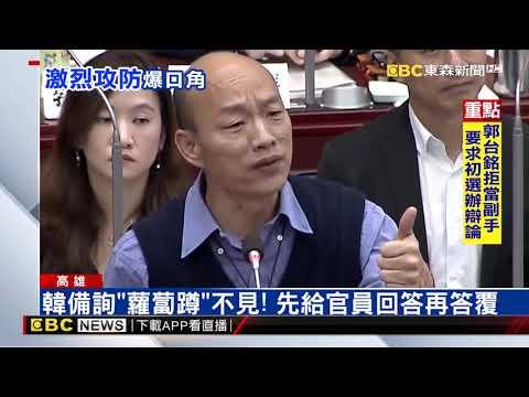 綠議員質詢韓國瑜 議長多次護航雙方爆口角