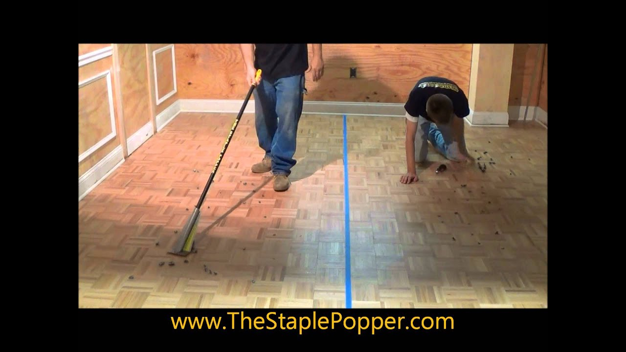 How To Easily Remove Carpet Staples Youtube