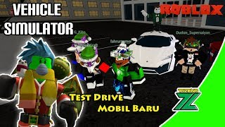 ROBLOX Indonesia | Vehicle Simulator | Try a new car that's long!! 😱😥