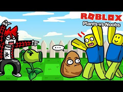 Roblox : Plants vs Noobs 🌱 สงครามพืชปะทะเจ้า NOOB !!!
