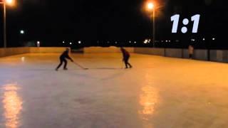 Играю с друзьями в хоккей