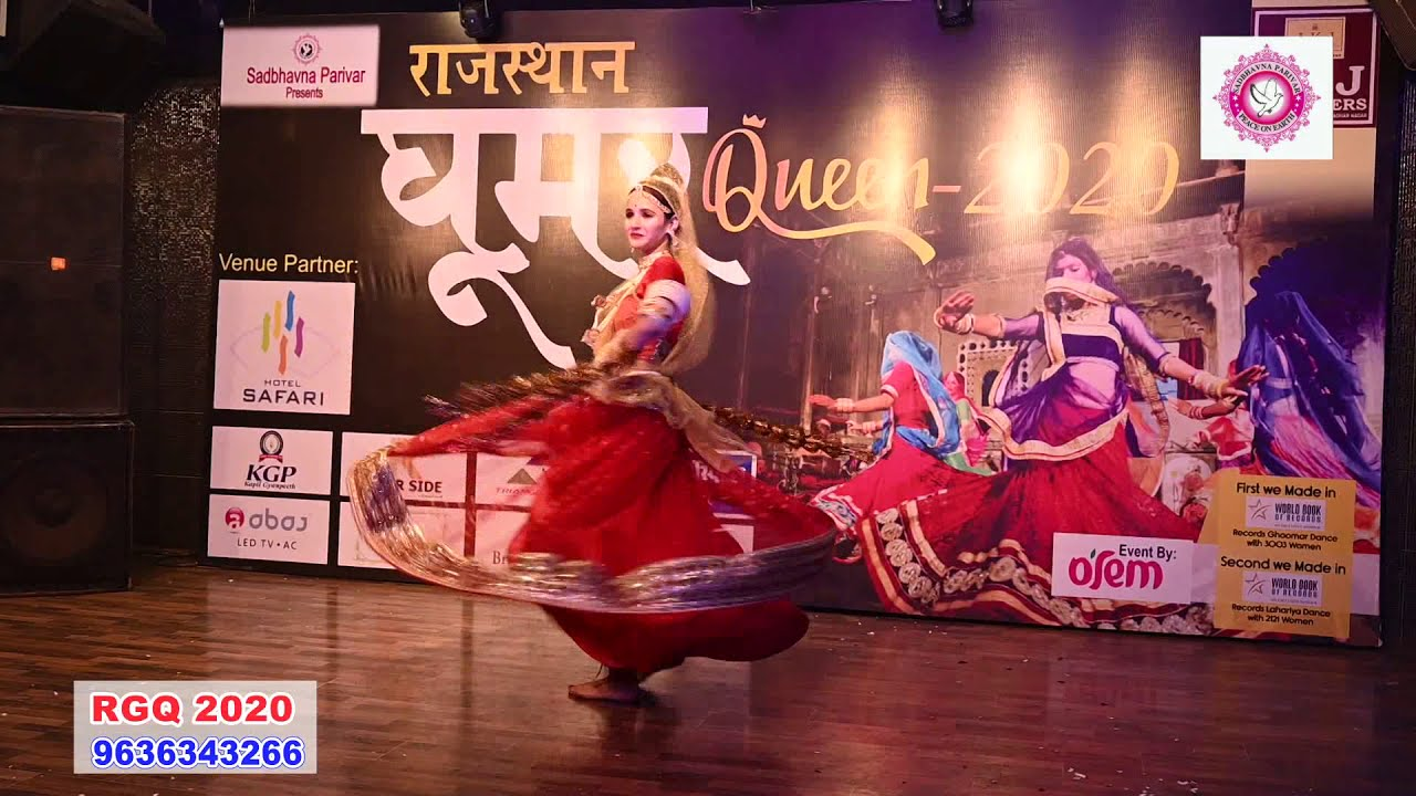 Rajasthan Ghoomar queen first runner up Yashika 2020