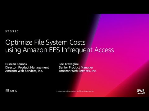 AWS re:Invent 2018: How Amazon EFS Infrequent Access Optimizes File System Costs (STG327)
