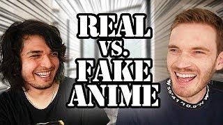 REAL VS. FAKE ANIME CHALLENGE (feat. PewDiePie) thumbnail