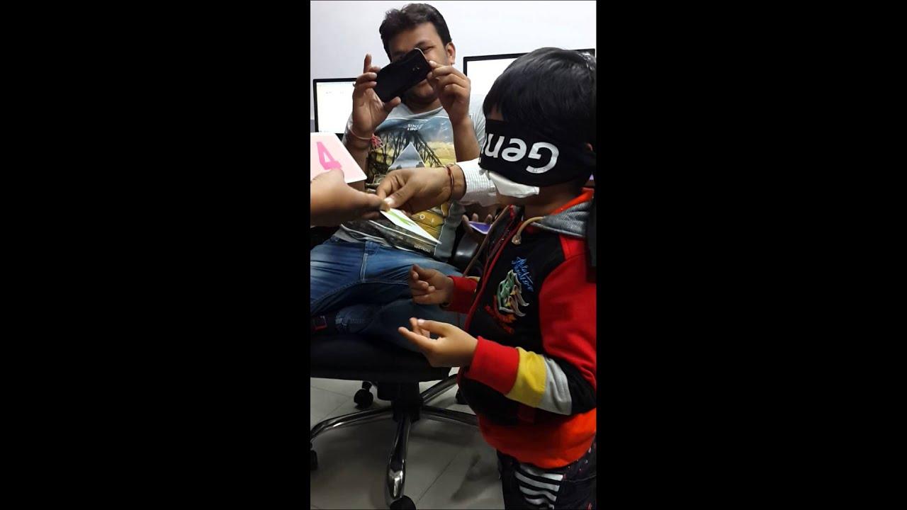 Blindfold activity | Genius Kid | Blindfold challange - Dwij Ganatra @ eBizTrait