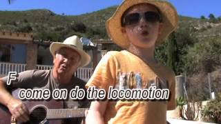 The Locomotion - Little Eva - cover - easy chords guitar lesson with on-screen chords and lyrics