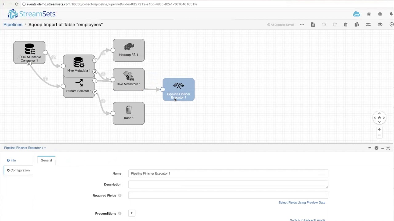 StreamSets Apache Sqoop Importer Demo