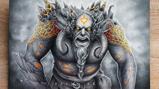 Drawing Troll Timelapse - Nordic Mythology Art
