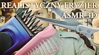 Realistyczny Fryzjer 3D ASMR po polsku