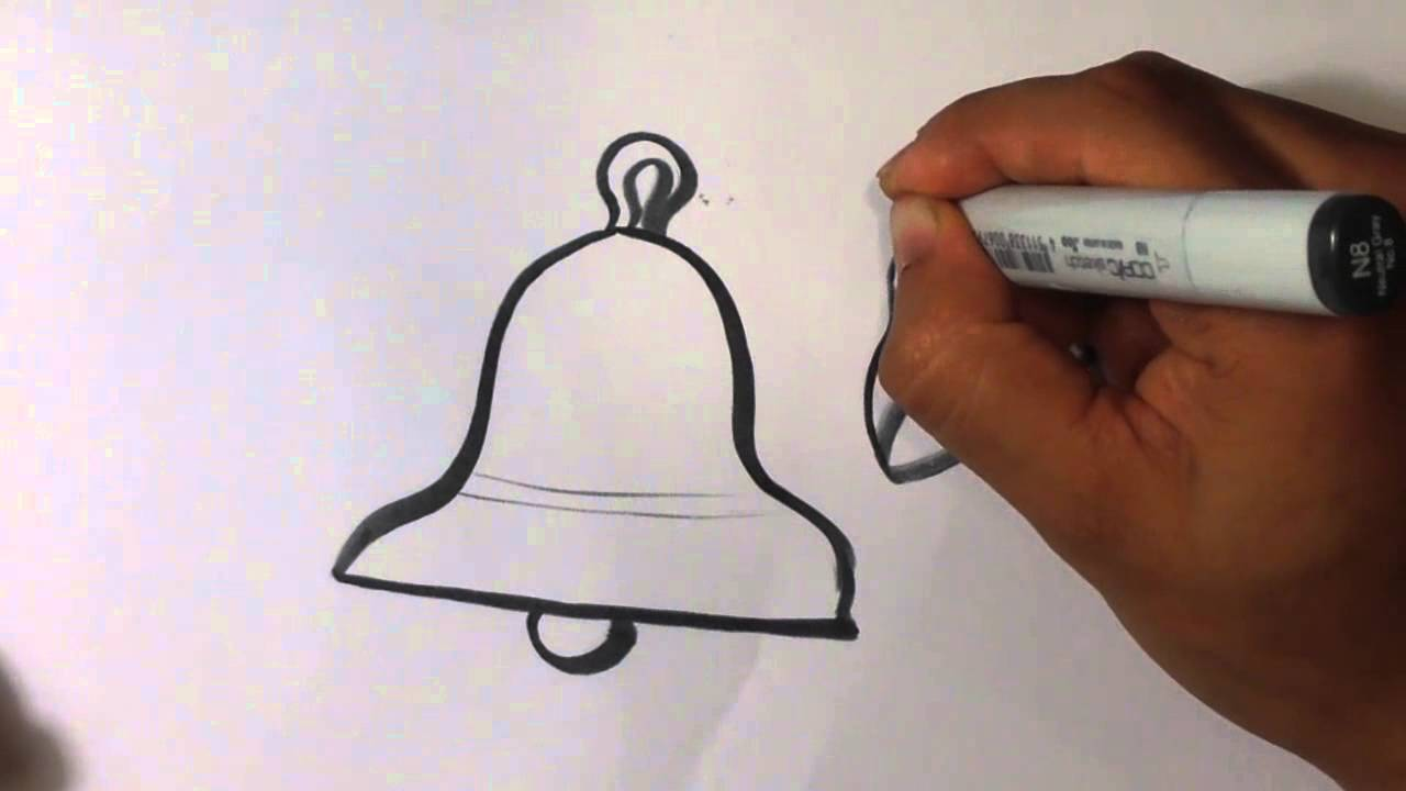 how to draw a bell christmas drawings youtube