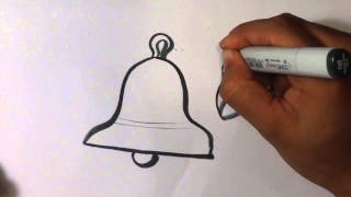 How to Draw a Bell - Christmas Drawings