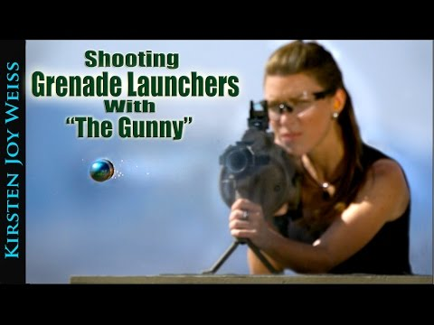 Shooting Duel M32 Grenade Launchers With The Gunny! | Kirsten Joy Weiss