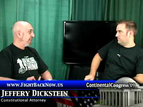 Jeffrey Dickstein Interview 16th Amendment and Taxes Part One