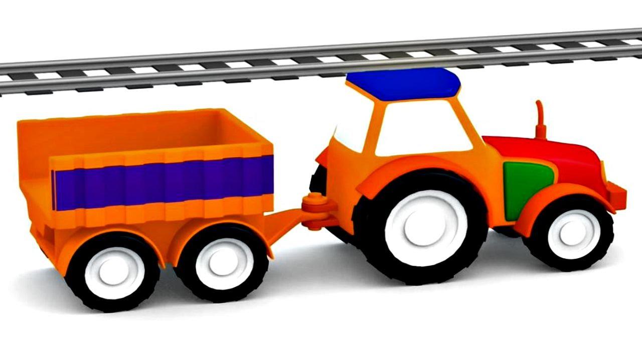 lehrreicher zeichentrickfilm die 4 kleinen autos traktor youtube. Black Bedroom Furniture Sets. Home Design Ideas