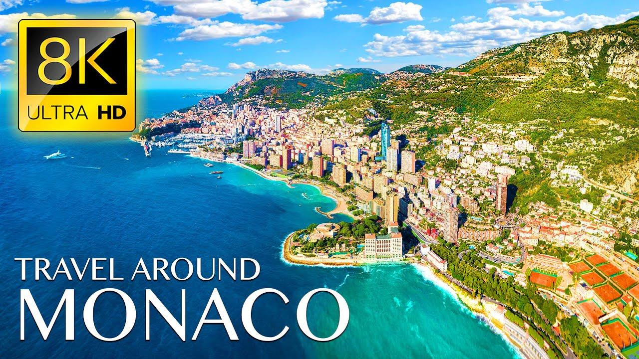 Travel Around MONACO in 8K ULTRA HD • Beautiful Scenery, Relaxing Music & Drone Videos