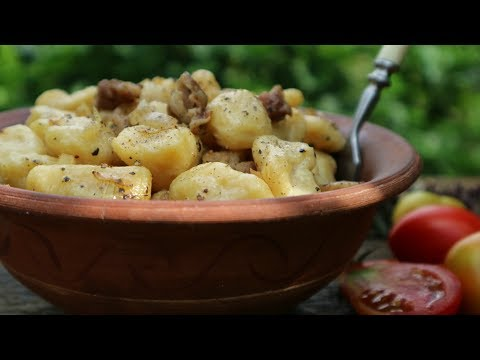 Галушки с салом и луком. Волшебство из теста! | Вкуснейшие Галушки рецепт!