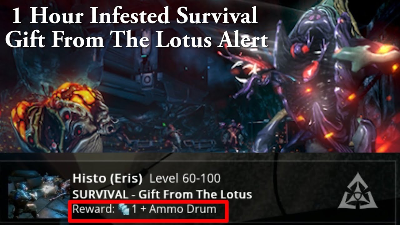 Warframe | 1 hour Gift From Lotus Infested Survival Alert - YouTube