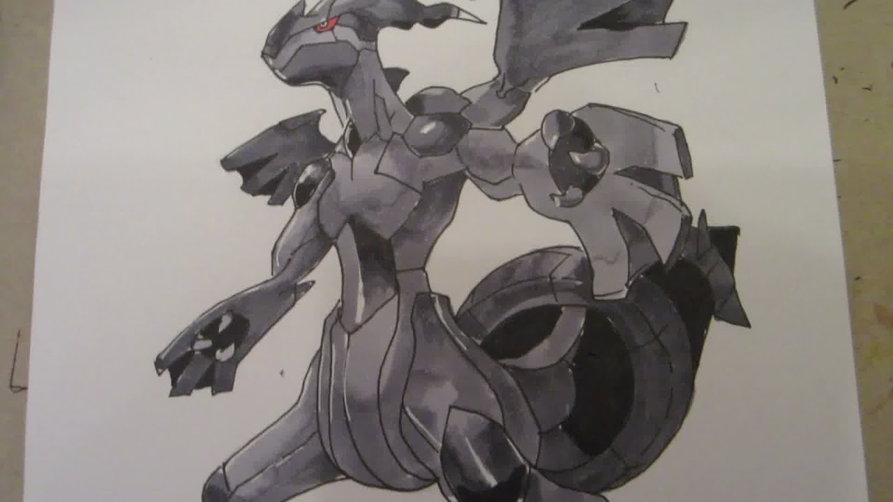 How to draw pokemon no644 zekrom youtube ccuart Images