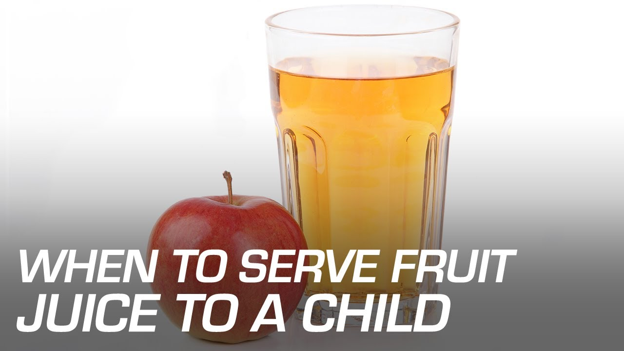 Pediatricians Say No Fruit Juice in Child's First Year