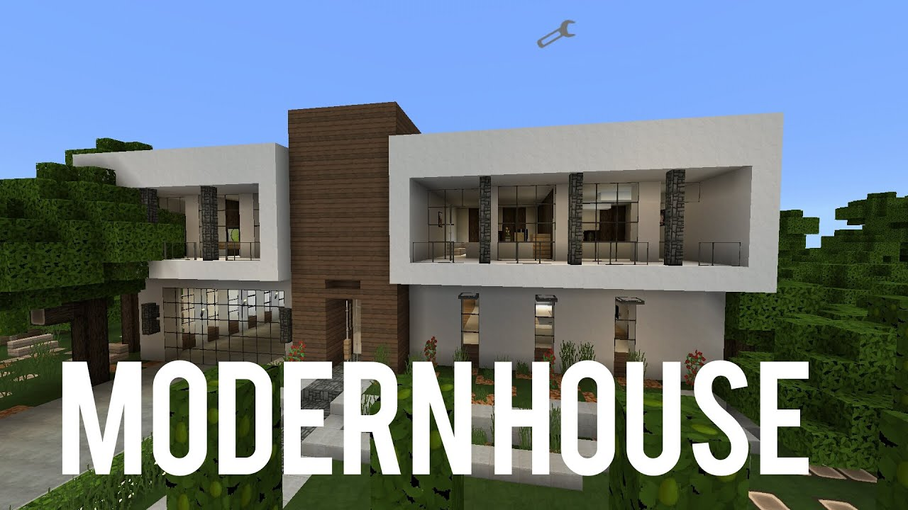mcpe house showcase modern house with poor