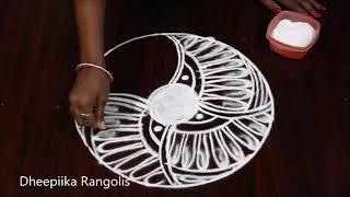 Beautiful freehand rangoli design for sankranthi * pongal kolam design * Latest muggulu