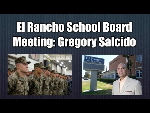 El Rancho School Board Meeting Citizen Comments Feb 6th Part #1