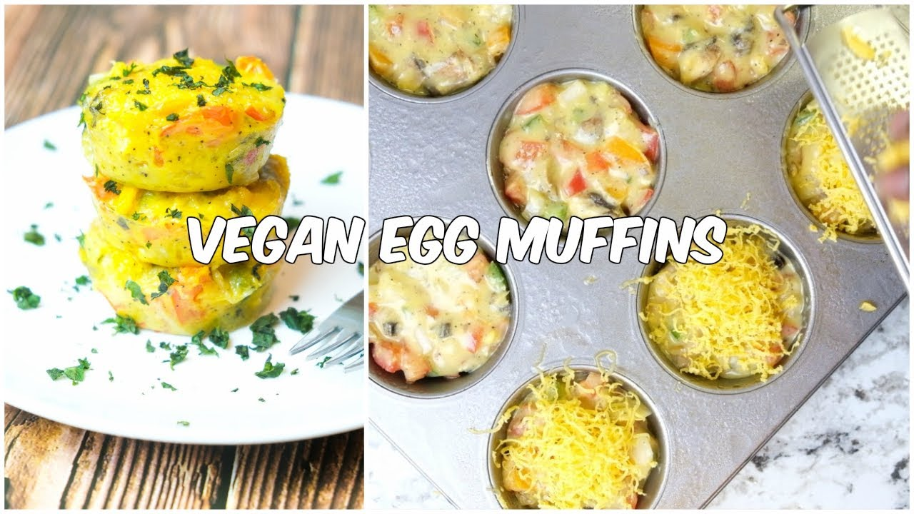 Vegan Egg Muffins | Healthy Breakfast Meal Prep