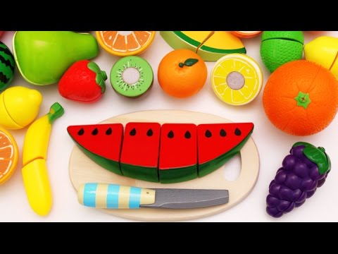 Learn Fruit Names with Cutting Fruit Playset for Children RL